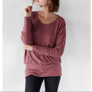 NWT Express Mauve Ribbed Cozy Dolman Tunic Top